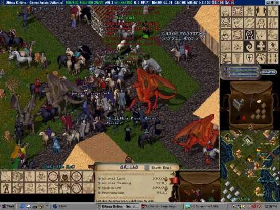 而后来的《网络创世纪》(Ultima Online),通称UO的则是史上第一款图形大型多人在线角色扮演游戏,确立了MMORPG的概念。