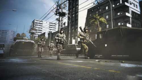 """《战地3》""""断剑者行动""""一关的截图,它就发生在默罕默德的""""第二故乡""""苏莱曼尼亚市。"""