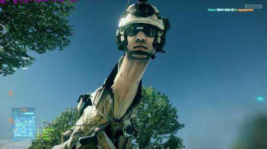 《战地》中发现让人物变成长颈鹿的BUG